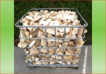 Hartholz | 1 rm - Gitterbox | Holzstück-Länge ca. 20 cm feines Holz